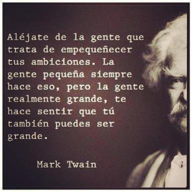 alejate de la gente pequena-Twain