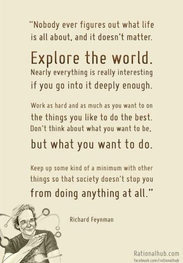 Do what you want-Richard Feynman
