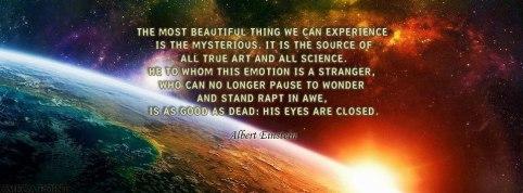 Einstein-stand in awe