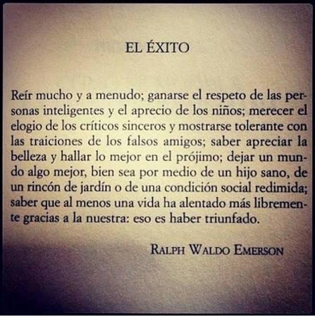 El exito-Ralp Waldo Emerson