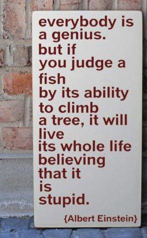 fish can't climb tree