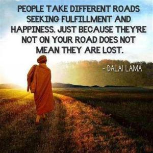 People-take-different-roads-Dalai Lama