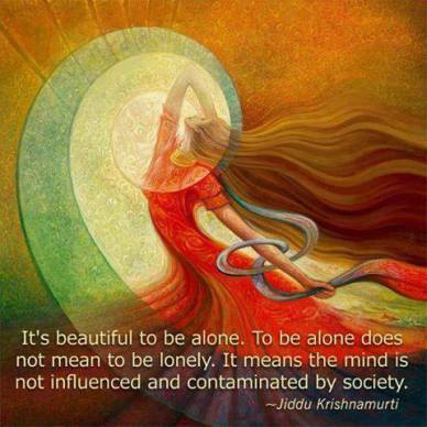 The Beauty of Being Alone