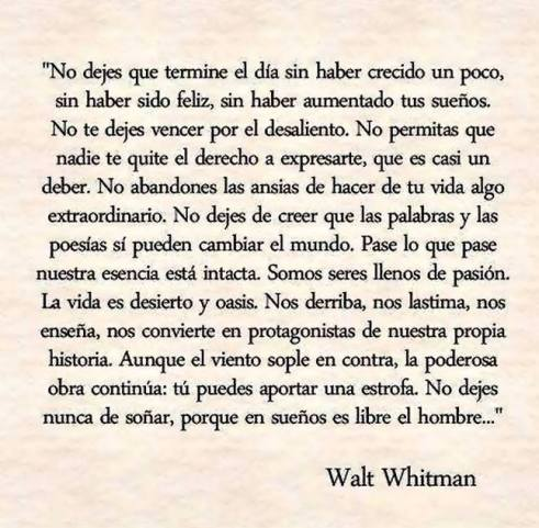 Tus suenos-Walt Whitman