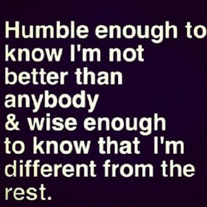 Humble and wise