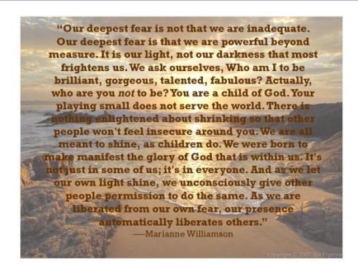 Marianne Williamson- We can all Shine